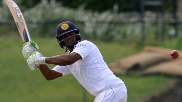 Asela Gunaratne plays to the on side