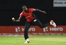 Kevon Cooper picked up 3 for 22, Jamaica Tallawahs v Trinbago Knight Riders, CPL 2016. Jamaica, July 18, 2016