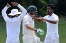 Vimukthi Perera bowled Joe Burns for 72, Sri Lankan XI v Australians, Colombo, July 19, 2016
