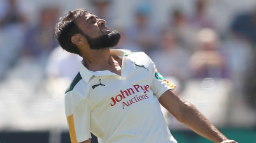Imran Tahir celebrates a seven-wicket haul