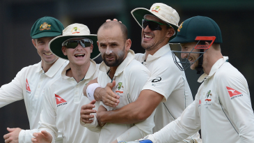 Nathan Lyon bagged two wickets