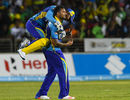 Ravi Rampaul celebrates the wicket of Chris Gayle, Jamaica Tallawahs v Barbados Tridents, Jamaica, CPL 2016, July 20, 2016