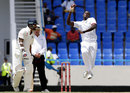 Jason Holder delivers the ball, West Indies v India, 1st Test, Antigua, 1st day, July 21, 2016