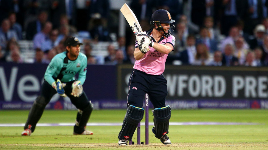 Eoin Morgan's 42 helped Middlesex beat local rivals Surrey