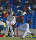 Roston Chase flights the ball, West Indies v India, 1st Test, Antigua, 1st day, July 21, 2016