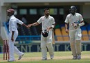 Darren Bravo congratulates Virat Kohli on his double ton, West Indies v India, 1st Test, Antigua, 2nd day, July 22, 2016