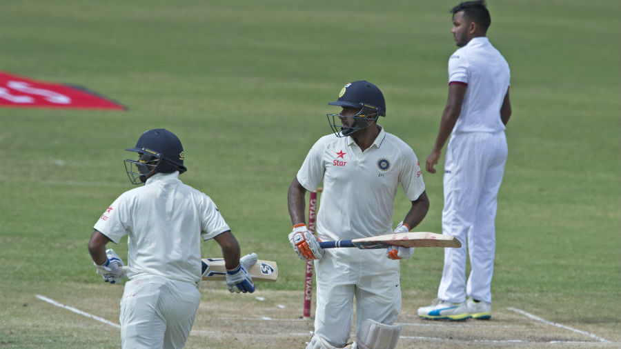 Kohli fell immediately after lunch, but Ashwin had partnerships of 71 and 51 with Wriddhiman Saha and Amit Mishra