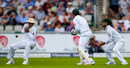 Younis Khan drops a catch from James Vince, England v Pakistan, 2nd Investec Test, Old Trafford, 1st day, July 22, 2016