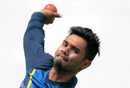Sri Lankan allrounder Dhananjaya de Silva delivers a ball at training, Pallekele, July 23, 2016