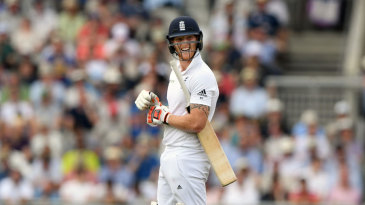Ben Stokes was unimpressed after being adjudged caught behind for 34
