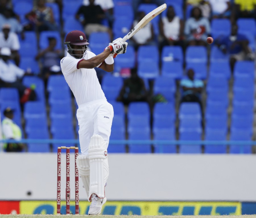 Roston Chase made 23 in his first Test innings before flapping a catch to short midwicket off Umesh Yadav