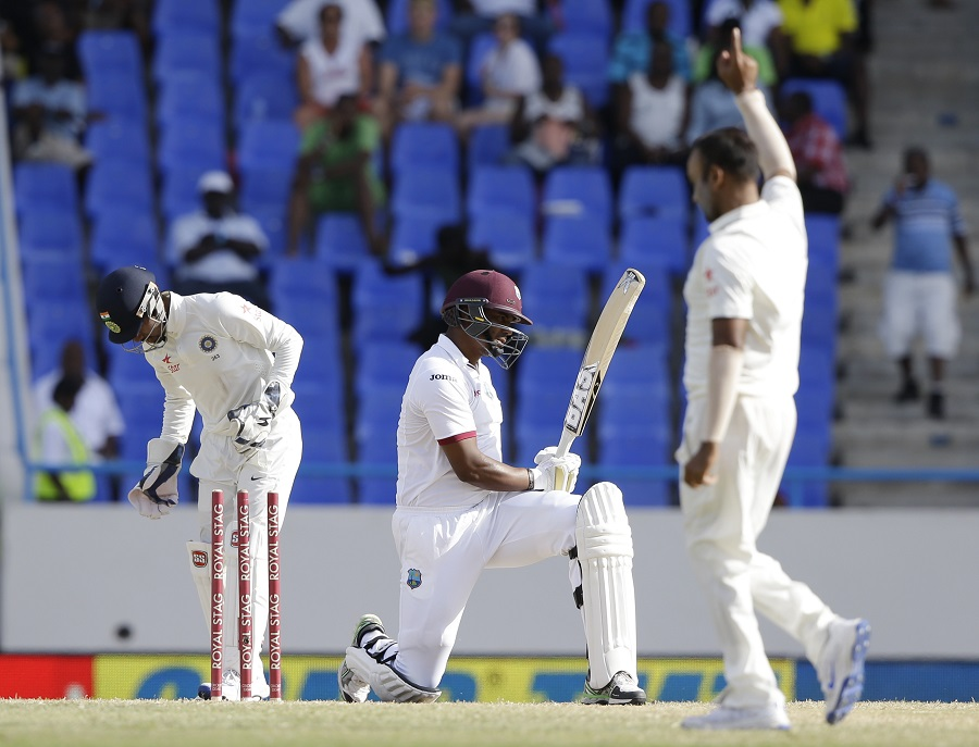 Shannon Gabriel was the last man dismissed for 2 as West Indies were asked to follow on