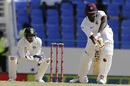 Jason Holder briefly resisted the Indian attack, West Indies v India, 1st Test, Antigua, 3rd day, July 23, 2016
