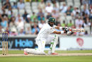 Misbah-ul-Haq square-drives on the third morning at Old Trafford, England v Pakistan, 2nd Investec Test, Old Trafford, 3rd day, July 24, 2016