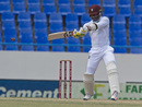 Marlon Samuels cuts strongly through the off side, West Indies v India, 1st Test, Antigua, 4th day, July 24, 2016