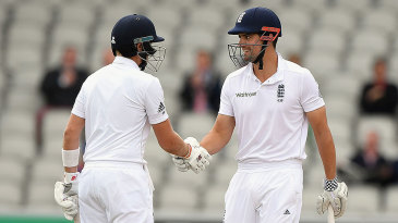 Alastair Cook and Joe Root extended their second-wicket stand