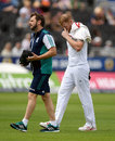 Ben Stokes cuts a dejected figure as he leaves the field with a calf injury, England v Pakistan, 2nd Investec Test, Old Trafford, 4th day, July 25, 2016