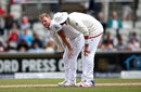Ben Stokes is consoled by Stuart Broad after pulling up in his followthrough, England v Pakistan, 2nd Investec Test, Old Trafford, 4th day, July 25, 2016