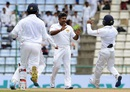 Rangana Herath struck in his second over to remove Joe Burns, Sri Lanka v Australia, 1st Test, Pallekele, 1st day, July 26, 2016