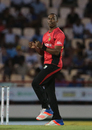 Dwayne Bravo celebrates one of his two wickets, St Lucia Zouks v Trinbago Knight Riders, CPL, Gros Islet, July 26, 2016