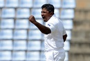 Rangana Herath exults after removing Steven Smith, Sri Lanka v Australia, 1st Test, Pallekele, 2nd day, July 27, 2016