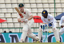 Adam Voges taps one towards mid-on, Sri Lanka v Australia, 1st Test, Pallekele, 2nd day, July 27, 2016