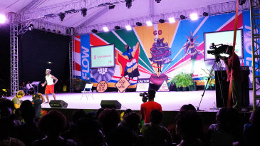 A live performance on stage during the Carnival at the Antigua Recreation Ground