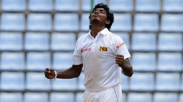 Lakshan Sandakan finished with 4 for 58 in his first Test innings