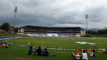 Clouds roll in over the Pallekele International Stadium