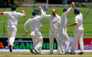 Nathan Lyon celebrates dismissing Angelo Mathews, Sri Lanka v Australia, 1st Test, Pallekele, 3rd day, July 28, 2016