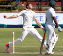 Tim Southee in his delivery stride, Zimbabwe v New Zealand, 1st Test, Bulawayo, 1st day, July 28, 2016