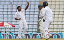 Rangana Herath exults after bowling David Warner with his second ball, Sri Lanka v Australia, 1st Test, Pallekele, 4th day, July 29, 2016