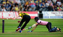 Liam Norwell fails to run out Steve Eskinazi, Gloucestershire v Middlesex, NatWest Blast, Bristol, July 29, 2016