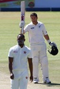 Ross Taylor celebrates his century, Zimbabwe v New Zealand, 1st Test, Bulawayo, 3rd day, July 30, 2016
