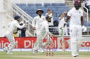 Virat Kohli takes off after catching Darren Bravo at slip, West Indies v India, 2nd Test, Kingston, 1st day, July 30, 2016