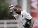 Shikhar Dhawan walks back after being dismissed, West Indies v India, 2nd Test, Kingston, 1st day, July 30, 2016