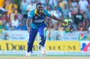 Raymon Reifer is ecstatic after picking up one of his two wickets, Barbados Tridents v Guyana Amazon Warriors, CPL 2016, Lauderhill, July 30, 2016