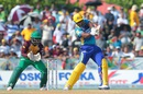 Barbados Tridents captain Kieron Pollard muscles one over the on side, Barbados Tridents v Guyana Amazon Warriors, CPL 2016, Lauderhill, July 30, 2016