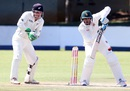 Zimbabwe captain Graeme Cremer taps one to the off side, Zimbabwe v New Zealand, 1st Test, Bulawayo, 4th day, July 31, 2016