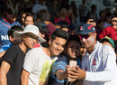 Paras Khadka poses for a selfie with fans, MCC v Nepal, Lord's, July 19, 2016
