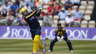 Liam Dawson smashed his way to a century from 68 balls