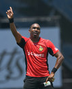 Dwayne Bravo gets the Florida crowd doing the 'Champion' dance, St Kitts & Nevis Patriots v Trinbago Knight Riders, CPL 2016, Lauderhill, July 31, 2016