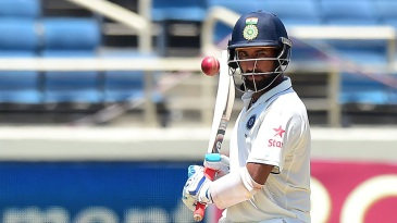 Cheteshwar Pujara put in a lot of hard work but fell four short of fifty