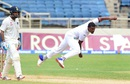 Shannon Gabriel gets into his follow through, West Indies v India, 2nd Test, Kingston, 2nd day, July 31, 2016