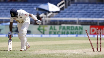 Cheteshwar Pujara drags himself off after being run out