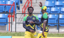 Chadwick Walton gets congratulated after the first of his three catches on the boundary, Jamaica Tallawahs v St Lucia Zouks, CPL 2016, Lauderhill, July 31, 2016