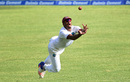 Shannon Gabriel makes a valiant but unsuccessful effort to catch R Ashwin, West Indies v India, 2nd Test, Kingston, 2nd day, July 31, 2016