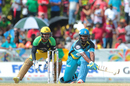 Johnson Charles brings out a deft reverse-sweep, Jamaica Tallawahs v St Lucia Zouks, CPL 2016, Lauderhill, July 31, 2016