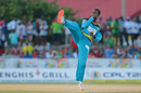 Karate Kid: Shane Shillingford celebrates a wicket with a spectacular kick, Jamaica Tallawahs v St Lucia Zouks, CPL 2016, Lauderhill, July 31, 2016