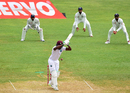 Darren Bravo shoulders arms to a delivery, West Indies v India, 2nd Test, Kingston, 4th day, August 2, 2016